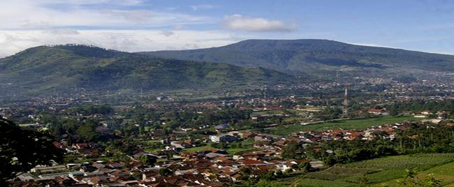 Lembang City in West Bandung Regency, West Java Province